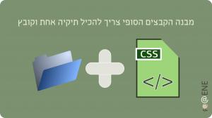 CSS 1 תיקיה אחת